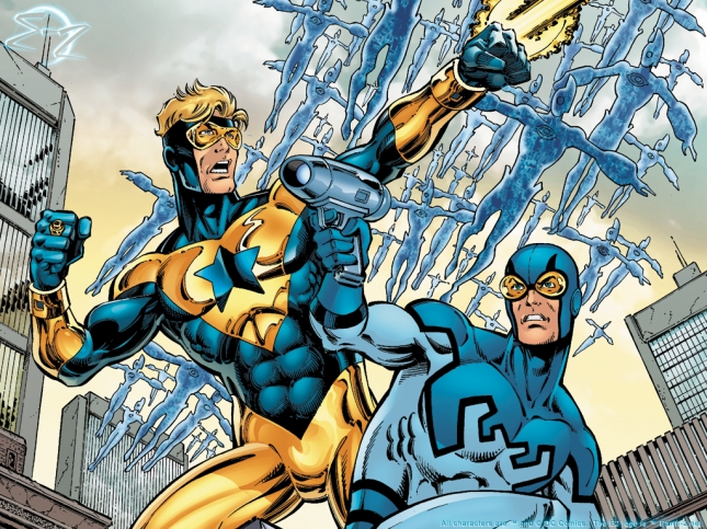 Booster Gold and Blue Beetle. Best Buddies. Fuck Buddies?