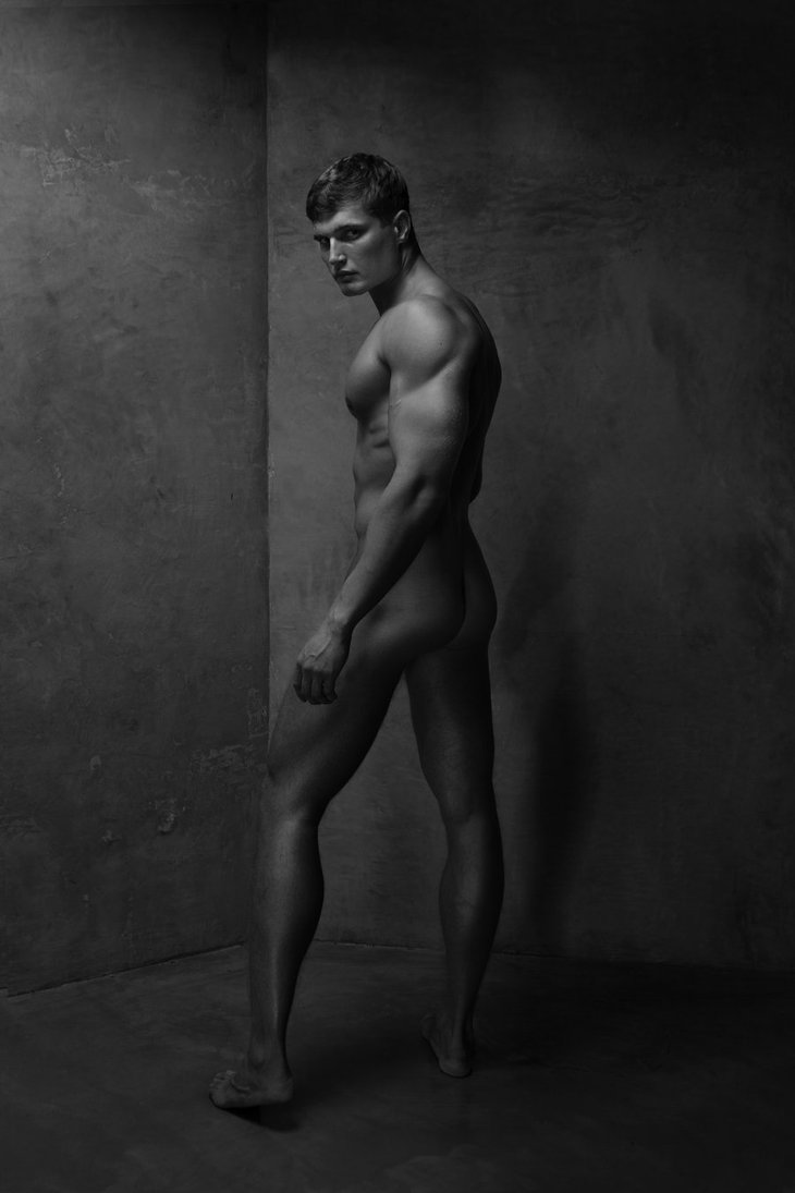 Nude young boy