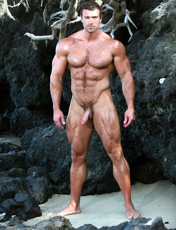 Nude male bodybuilder — img 3
