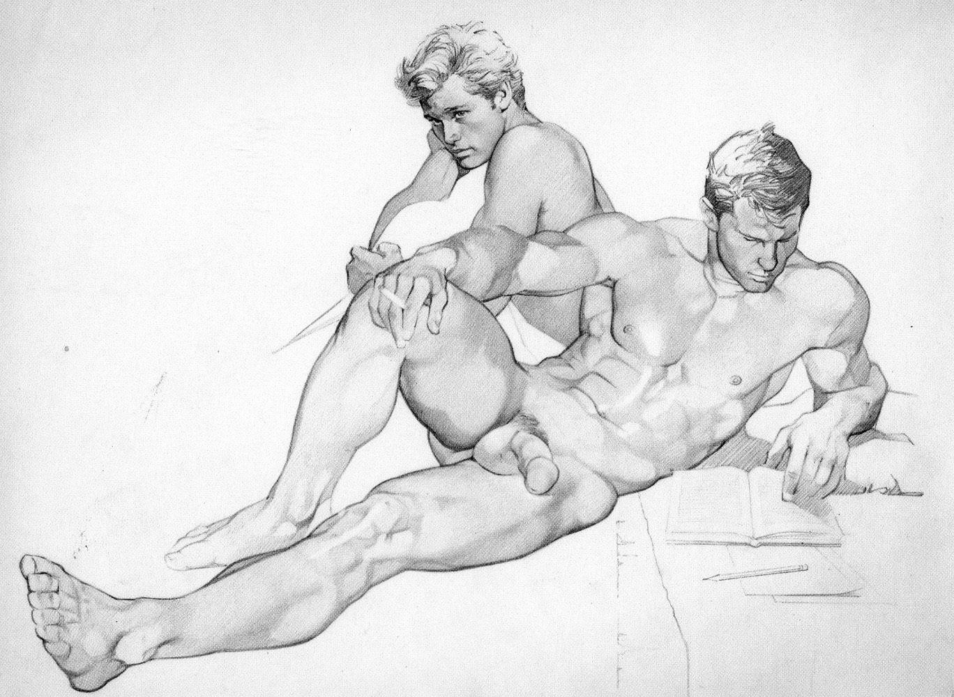 Sexy bondage fantasy pencil drawings