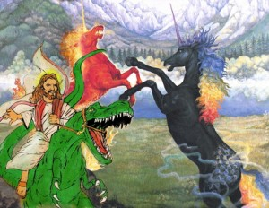 raptor jesus vs the unicorn