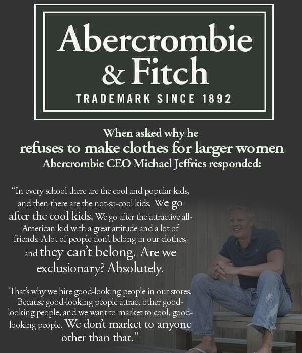 abercrombie and fitch: the fashion Nazis of teen apparel
