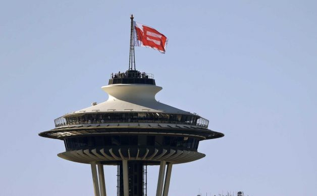 Equality Flag Tops Space Needle
