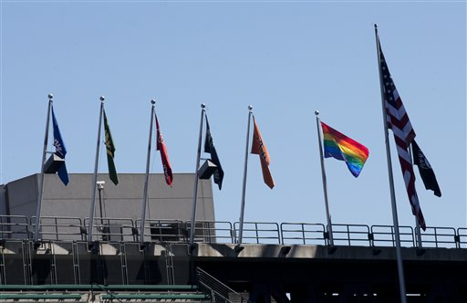 Seattle Gay Pride at Cubs Mariners Baseball Game