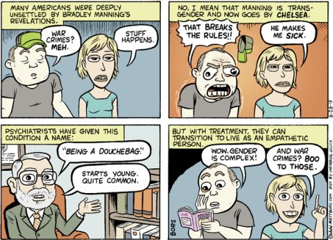 Matt Bors on Chelsea Manning