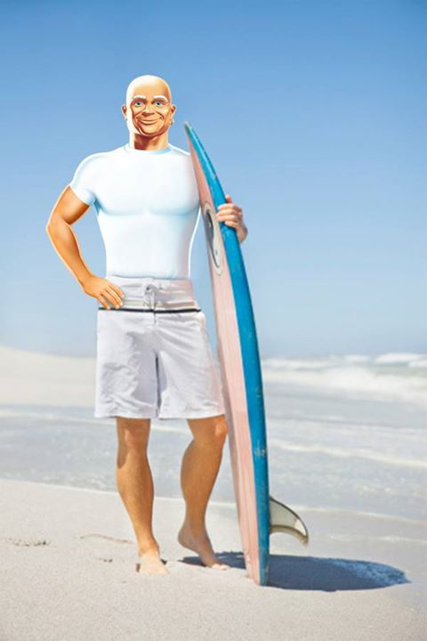 Mr Clean Surfer Boy