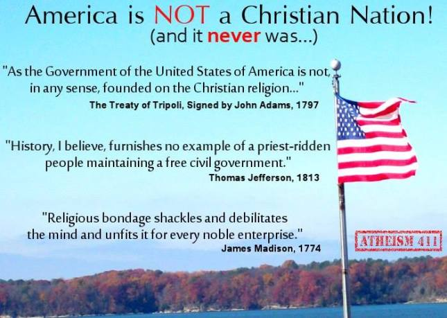 America was not founded by Christianson