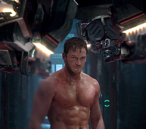 Chris Pratt as Peter Quinn AKA Starlord in Guardians of the Galaxyine-2