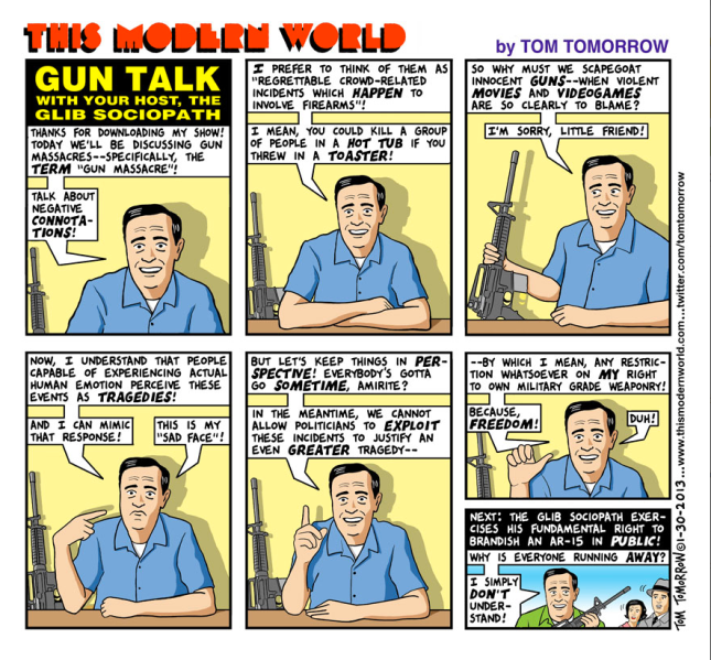 Cartoon by Tom Tomorrow