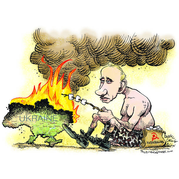 putin fire to ukraine