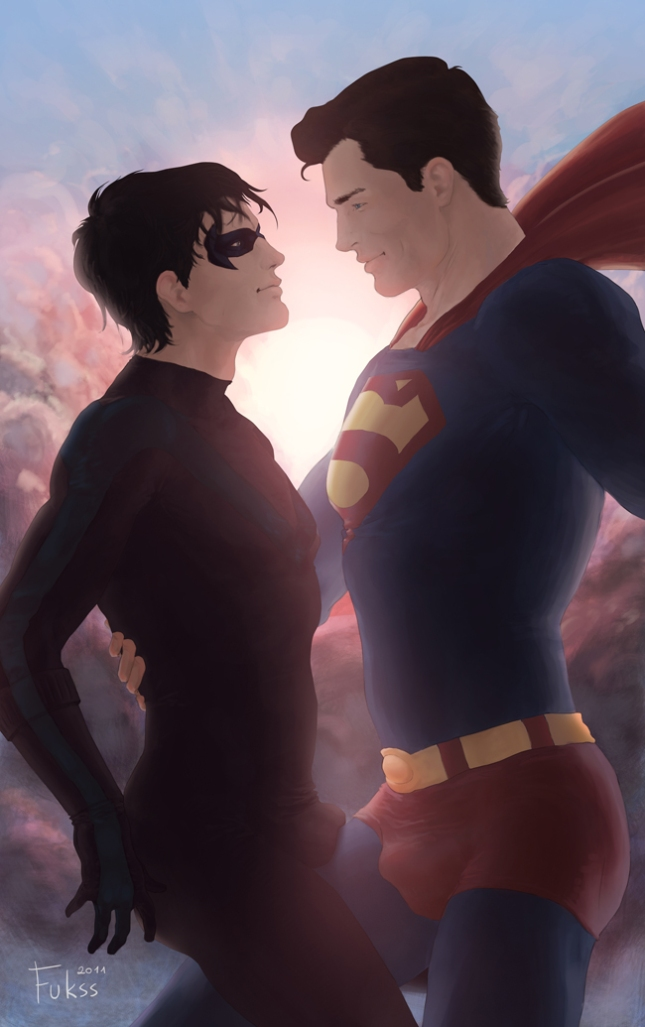 Superman: Dick and Clark by Fukssman
