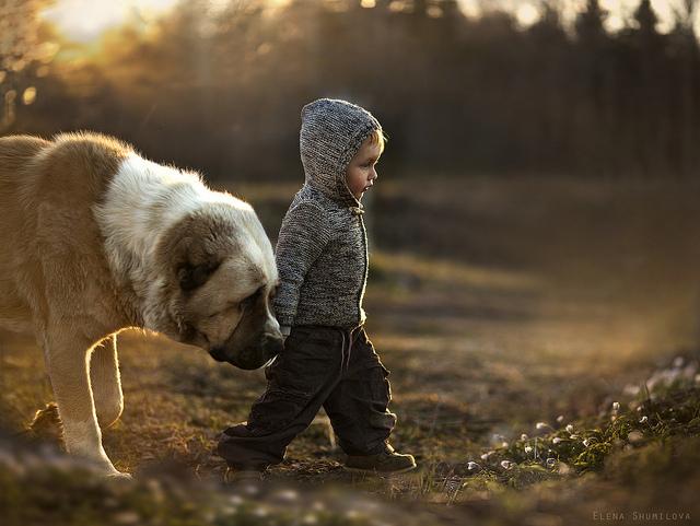 Vanya and Friend by Elena Shumilova