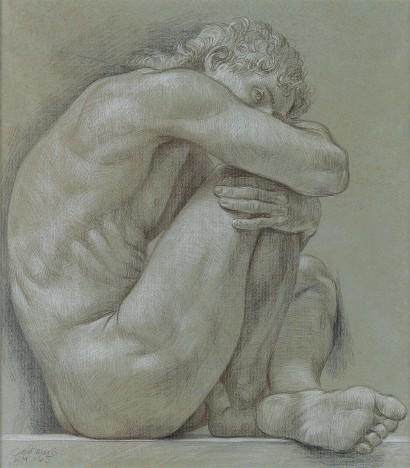 Male Nude by Paul Cadmus