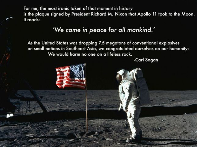 Carl Sagan: On the ironies of war and the Apollo 11 mission