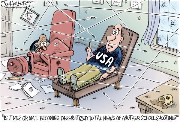 Shootings Cartoon by Joe Heller