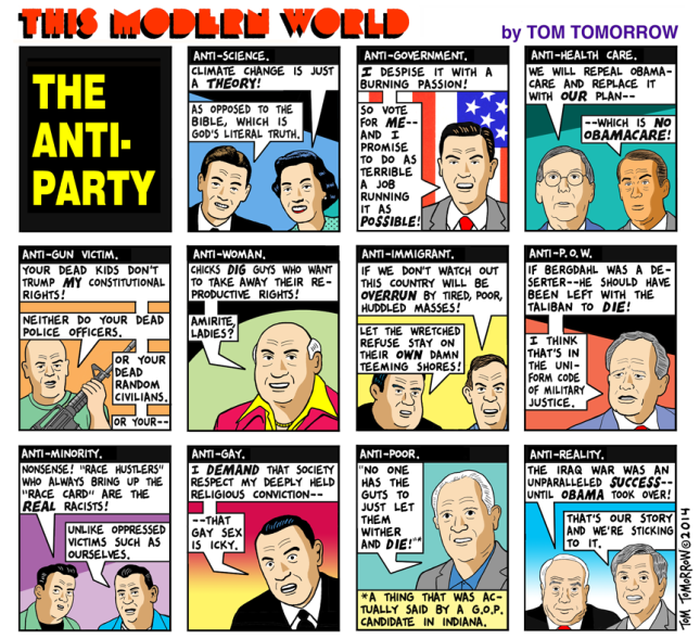 Anti-Party, This Modern World by Tom Tomorrow
