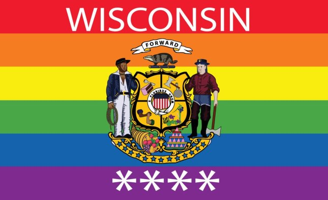 Wisconsin Gay Pride State Flag by Red Fields of None