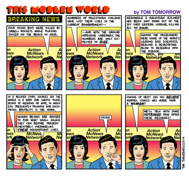 Breaking News by Tom Tomorrow