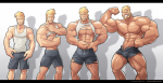 Muscle Growth Sequence by Silverjow