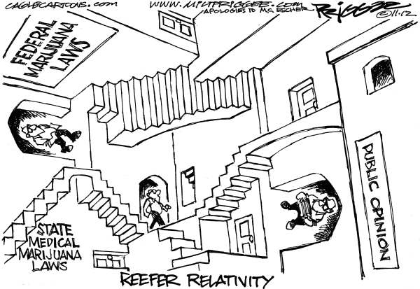 Reefer Relativity by Milt Priggee