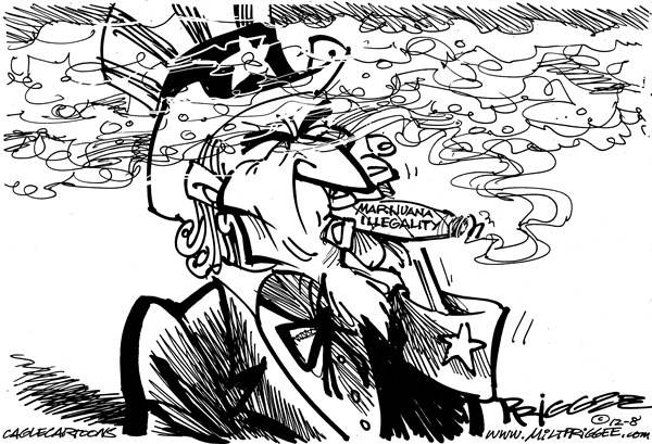 Uncle Sam Smokes It by Milt Priggee